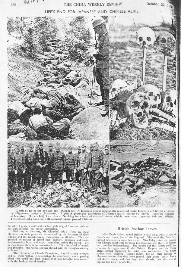 Newspaper 1937 Nanking massacre